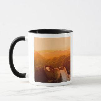 Panoramic view of Great Wall, China Mug