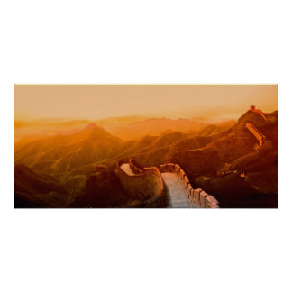 Panoramic view of Great Wall, China Poster