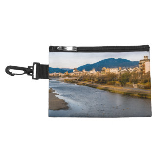 Panoramic view of Kamo River in Kyoto Accessory Bag