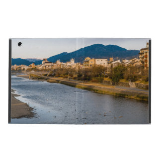 Panoramic view of Kamo River in Kyoto iPad Folio Case