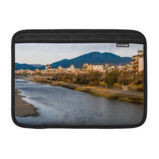 Panoramic view of Kamo River in Kyoto MacBook Sleeves