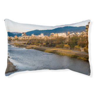 Panoramic view of Kamo River in Kyoto Pet Bed