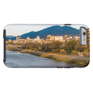 Panoramic view of Kamo River in Kyoto Tough iPhone 6 Case