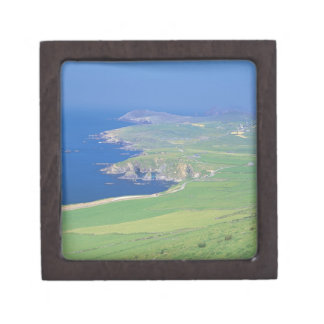 panoramic view of landscape and the sea jewelry box