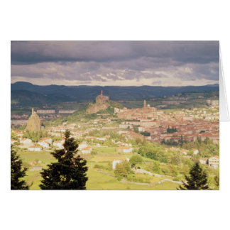 Panoramic view of Le-Puy-en-Velay Greeting Card