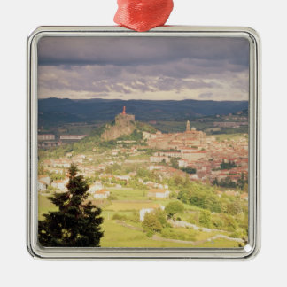Panoramic view of Le-Puy-en-Velay Metal Ornament