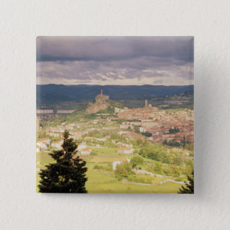 Panoramic view of Le-Puy-en-Velay Pinback Button