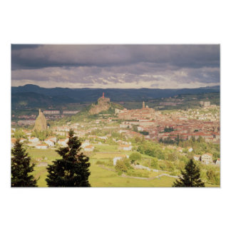 Panoramic view of Le-Puy-en-Velay Poster