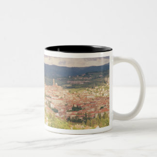 Panoramic view of Le-Puy-en-Velay Two-Tone Coffee Mug