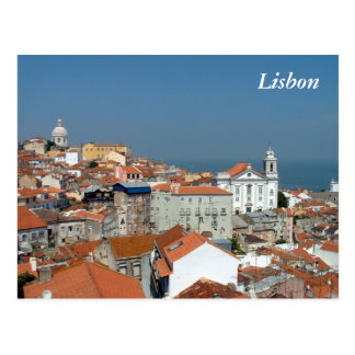 Panoramic view of Lisbon Postcard