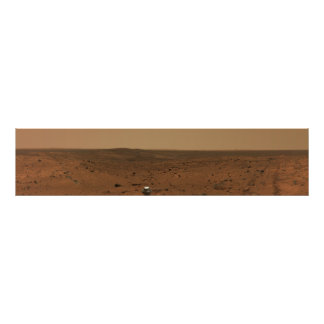 Panoramic view of Mars 4 Posters