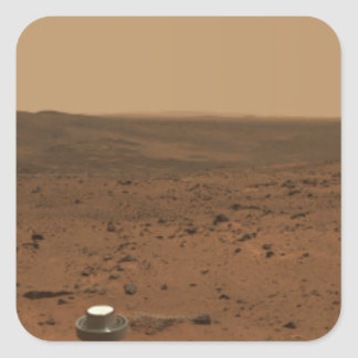 Panoramic view of Mars 4 Square Sticker