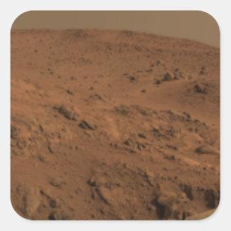 Panoramic view of Mars 7 Square Sticker