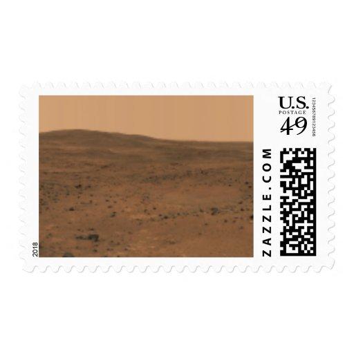 Panoramic view of Mars 8 Stamp