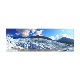 Panoramic View of Matanuska Glacier, Alaska Canvas Print