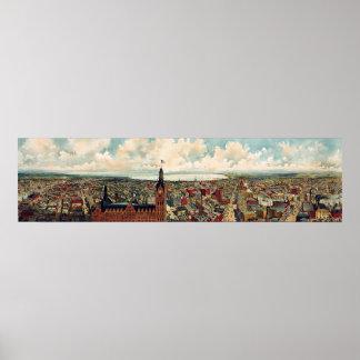 Panoramic view of Milwaukee Wisconsin Poster