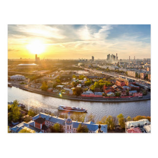 Panoramic View of Moscow Russia Postcard