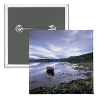 panoramic view of mountains and lake 3 pinback button