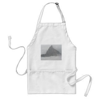 Panoramic view of mountains in the fog adult apron