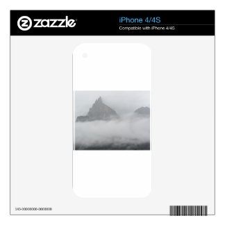 Panoramic view of mountains in the fog iPhone 4S decal