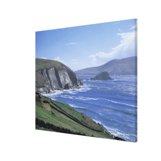 panoramic view of ocean waves crashing on a canvas print