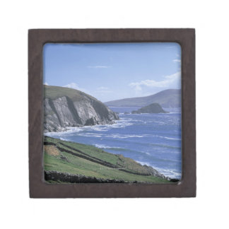 panoramic view of ocean waves crashing on a jewelry box