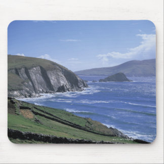 panoramic view of ocean waves crashing on a mouse pad