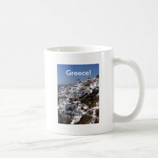 Panoramic view of Oia, Greece Coffee Mug