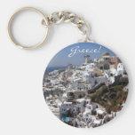 Panoramic view of Oia, Greece Key Chains
