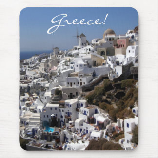 Panoramic view of Oia, Greece Mouse Pad