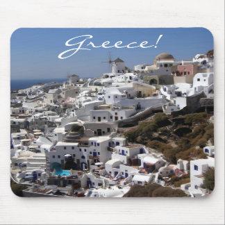 Panoramic view of Oia, Greece Mousepad