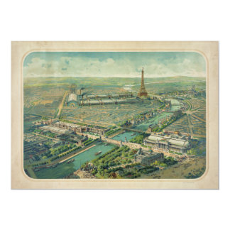 Panoramic view of Paris France Expo 1900 Card