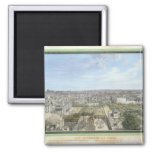 Panoramic View of Paris Towards the North, 1786 2 Inch Square Magnet