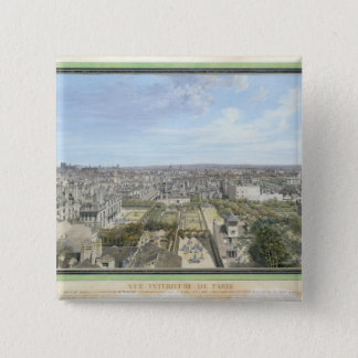 Panoramic View of Paris Towards the North, 1786 Pinback Button