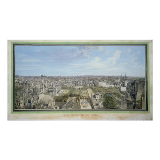 Panoramic View of Paris Towards the North, 1786 Poster