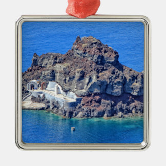 Panoramic view of Santorini Metal Ornament