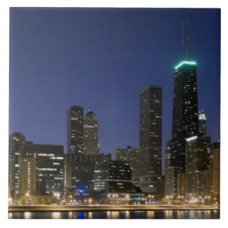 Panoramic view of the Chicago lakefront at dusk, Tiles
