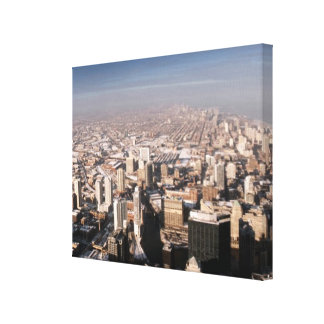 Panoramic view of the city stretched canvas prints