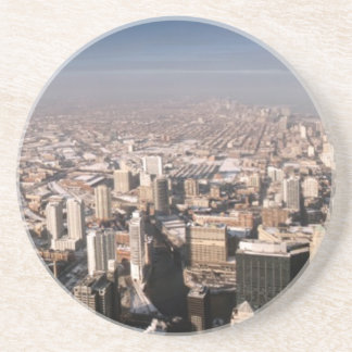 Panoramic view of the city drink coaster