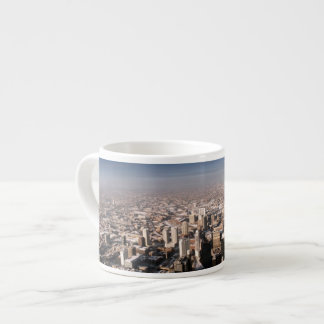 Panoramic view of the city espresso cup