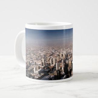 Panoramic view of the city large coffee mug