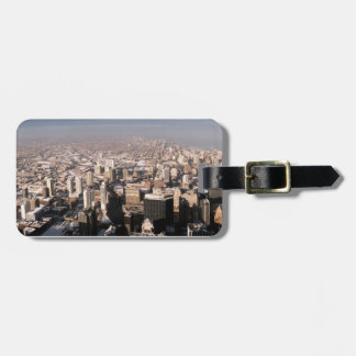 Panoramic view of the city luggage tag