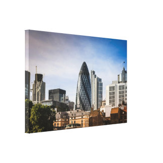 Panoramic view of the City of London Canvas Print