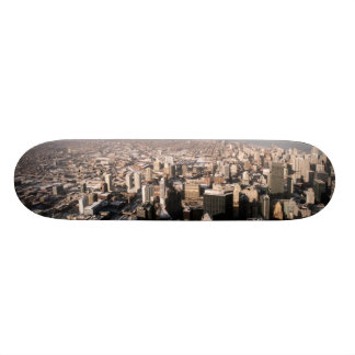 Panoramic view of the city skateboard deck
