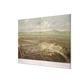 Panoramic view of the Exposition Universelle Canvas Print
