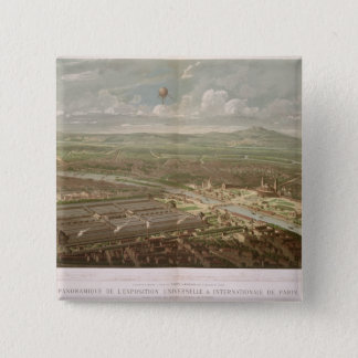 Panoramic view of the Exposition Universelle Pinback Button