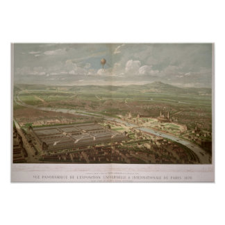Panoramic view of the Exposition Universelle Poster