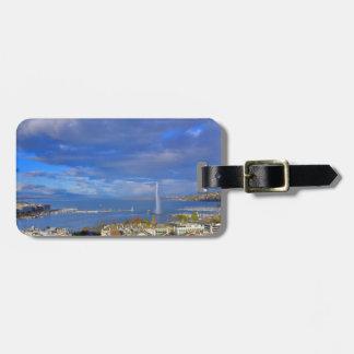 Panoramic view of the Geneva water jet Bag Tag