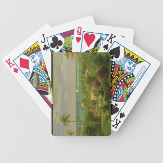 Panoramic View of the Harbour at Nassau in the Bah Bicycle Playing Cards