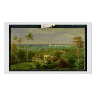 Panoramic View of the Harbour at Nassau in the Bah Poster